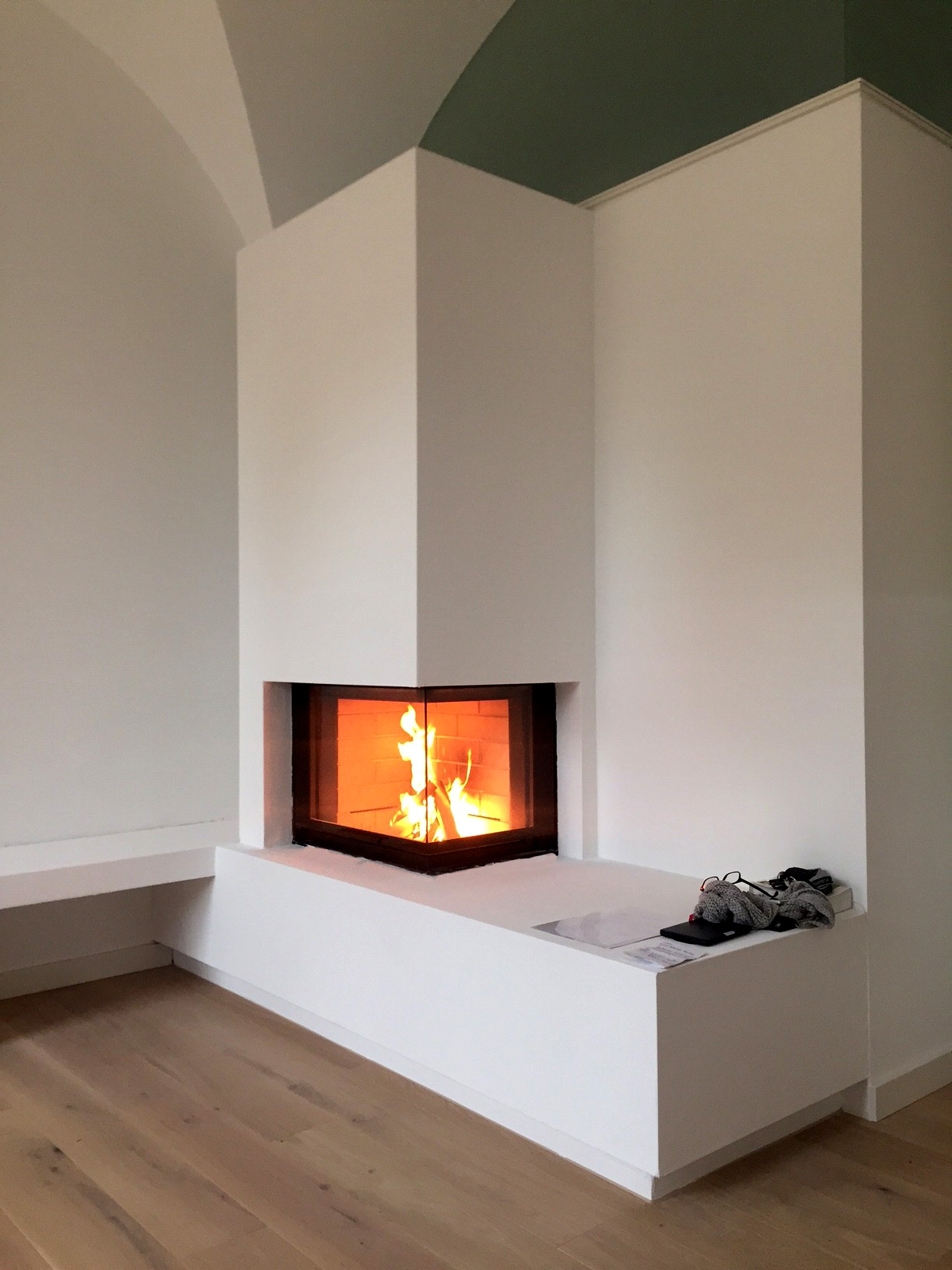 bespoken contemporary fireplace